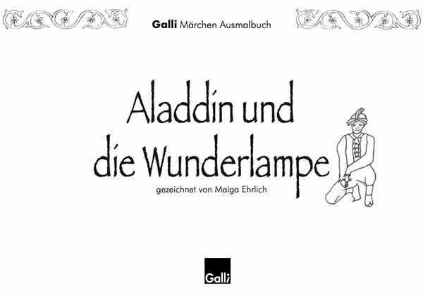 Märchen Ausmalbuch – Aladdin Und Die Wunderlampe