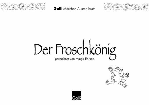 Märchen Ausmalbuch – Der Froschkönig