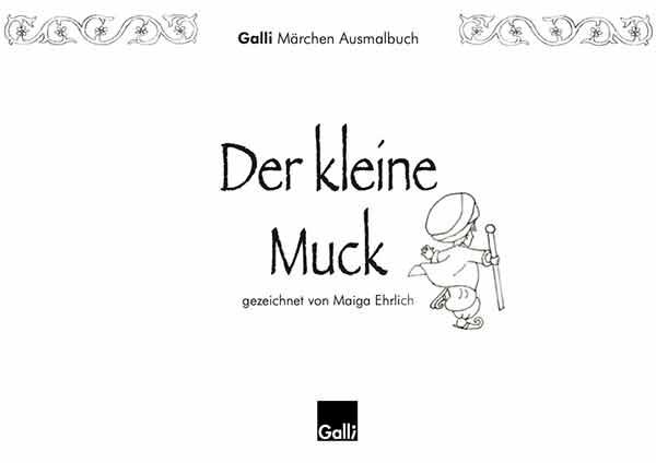 Märchen Ausmalbuch – Der Kleine Muck