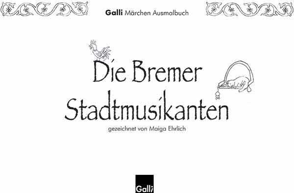 Märchen Ausmalbuch – Die Bremer Stadtmusikanten