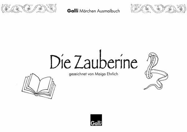 Märchen Ausmalbuch – Die Zauberine
