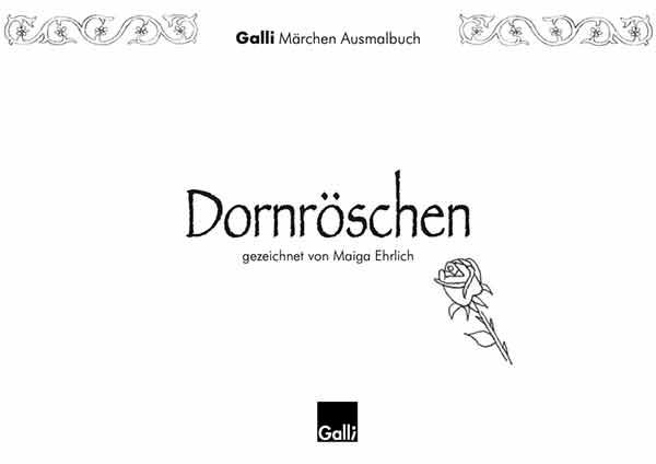 Märchen Ausmalbuch – Dornröschen