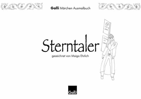 Märchen Ausmalbuch – Sterntaler