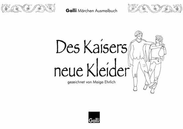 Märchen Ausmalbuch – Des Kaisers Neue Kleider