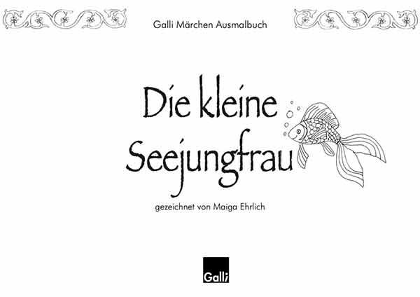 Märchen Ausmalbuch – Die Kleine Seejungfrau