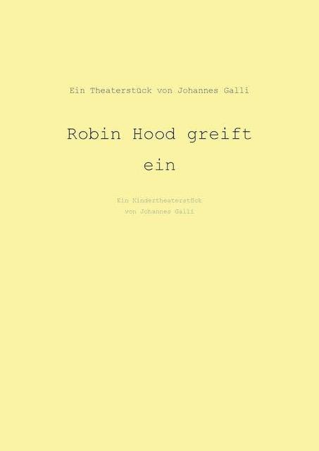 Robin Hood Greift Ein